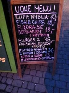 dorsche menu