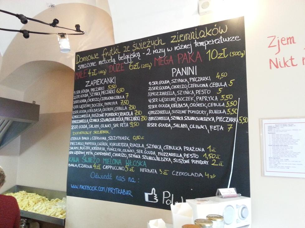 frytka bar menu