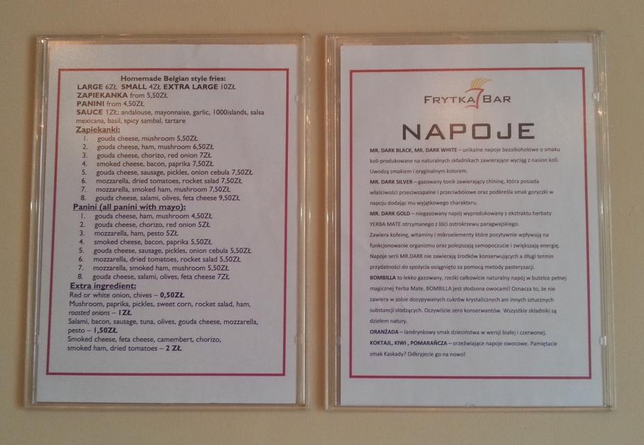 frytka bar menu1