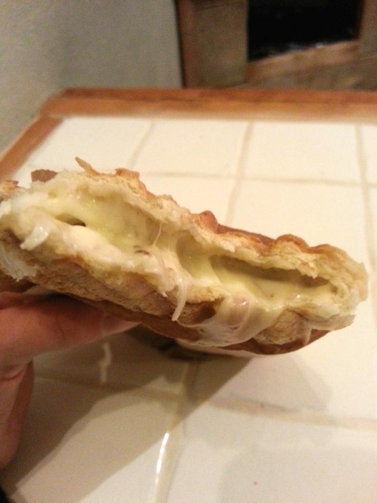 wnętrze kanapki zapiekanki