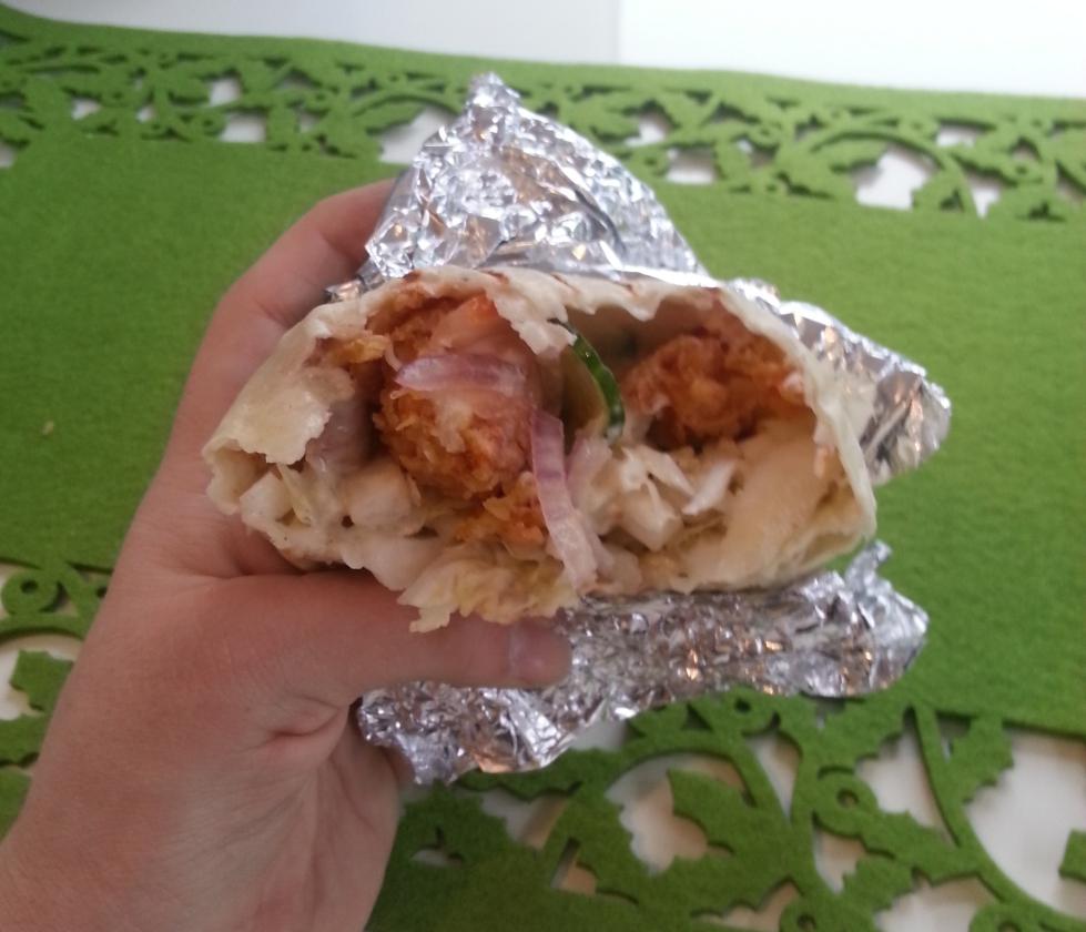 tortilla z kurczakiem wnętrze