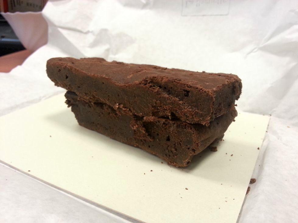 brownie rozpakowane