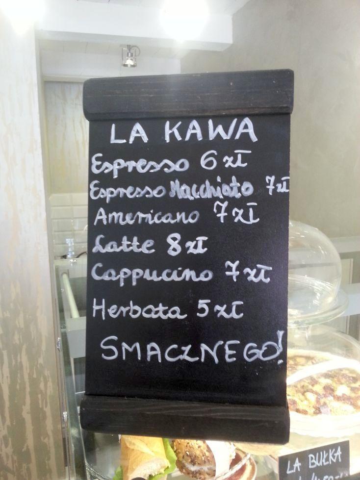 menu kawowe