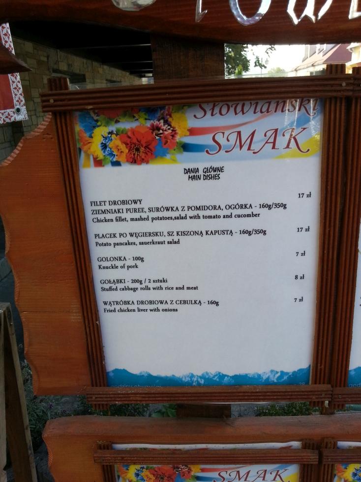 słowiański smak menu