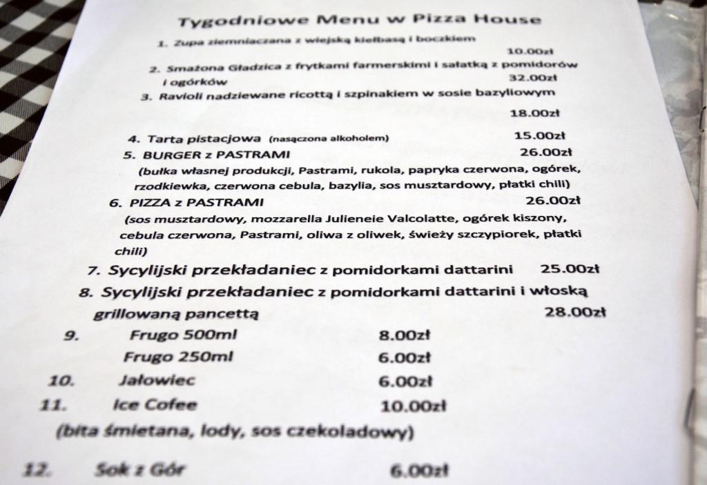 pizza house wkladka menu